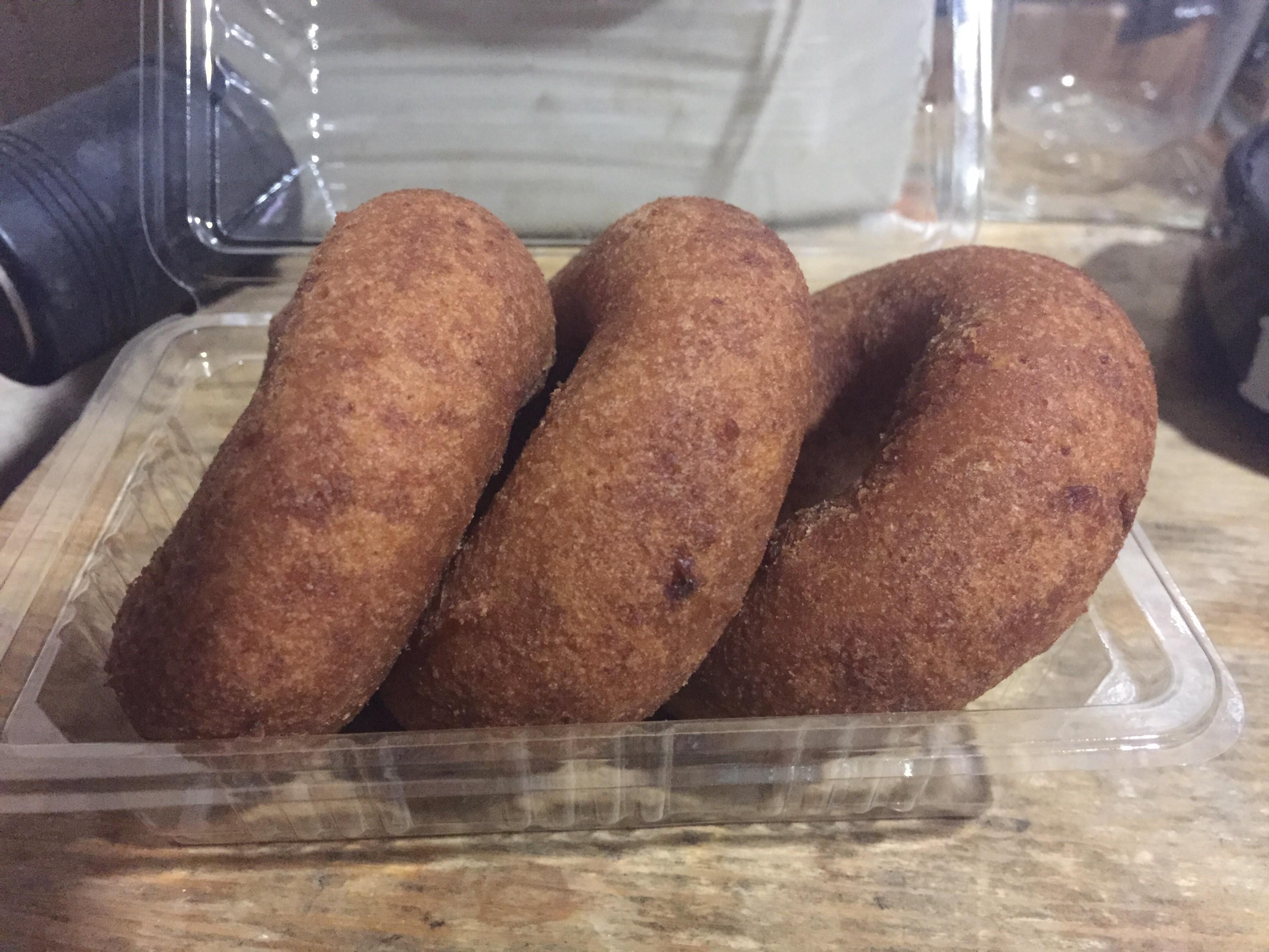 梅ヶ丘の豆腐屋さんのおからドーナツ(^^)