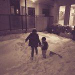 初めての雪(次男)